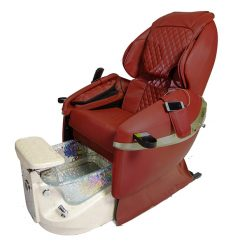 Diva Deluxe Spa Pedicure Chair With Free Pedicure Stool Red