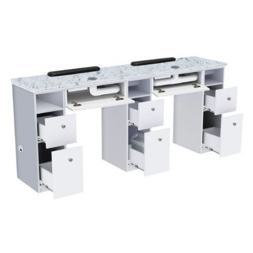 Nova I Double Nail Table With Exhaust