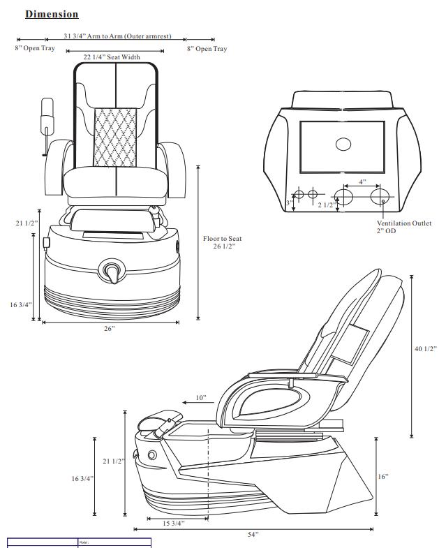 petra gx pedicure spa chair 1 - Petra GX Pedicure Spa Chair