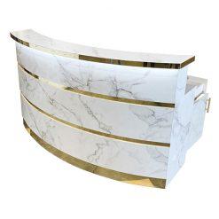 Gold & Marble Reception Desk 1
