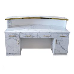 Gold & Marble Reception Desk 2