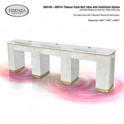 Fidenza Triple Nail Table
