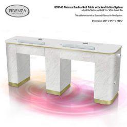 Gs9140 Fidenza Double Nail Table