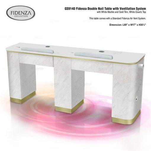 Fidenza Double Nail Table