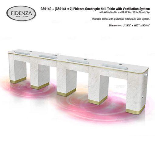 Fidenza Quadruple Nail Table