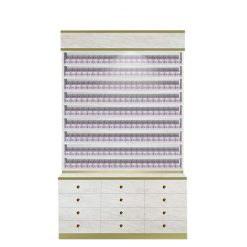 Fidenza Dip Powder Rack with Cabinet