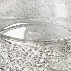 Gs5009 Bird Nest Clear Glass Bowl 3
